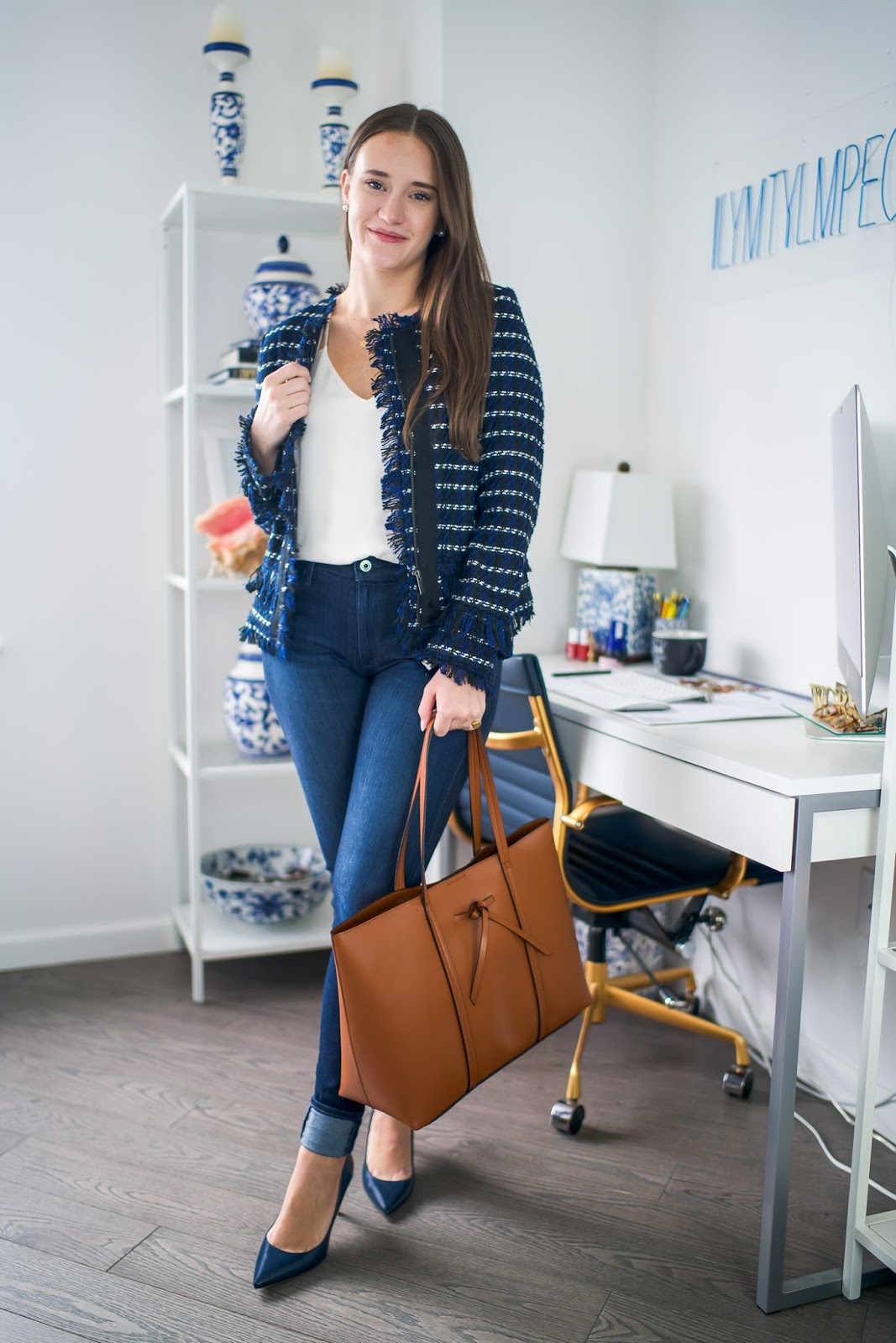 Casual Friday outfit by popular New York style blogger Covering the Bases