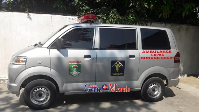 Satu Unit Ambulance Diserahkan Pemkab Lamteng Untuk Lapas Gunungsugih