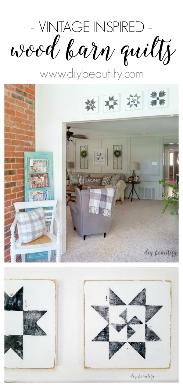 paint these wood barn quilts today! | www.diybeautify.com