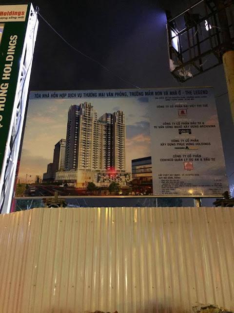 Hình ảnh dự án nhìn từ đường Nguyễn Tuân
