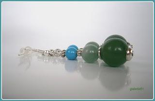 kolczyki, agat, jadeit, zielony, miętowy, niebieski