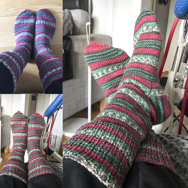 sockor, stickning