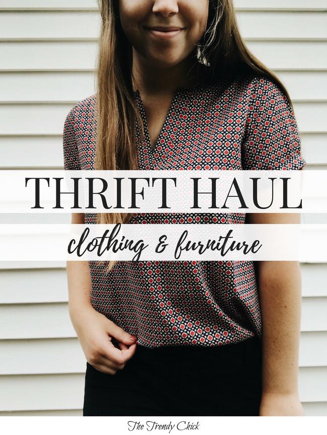 Recent Thrift Haul (Clothes & Furniture)