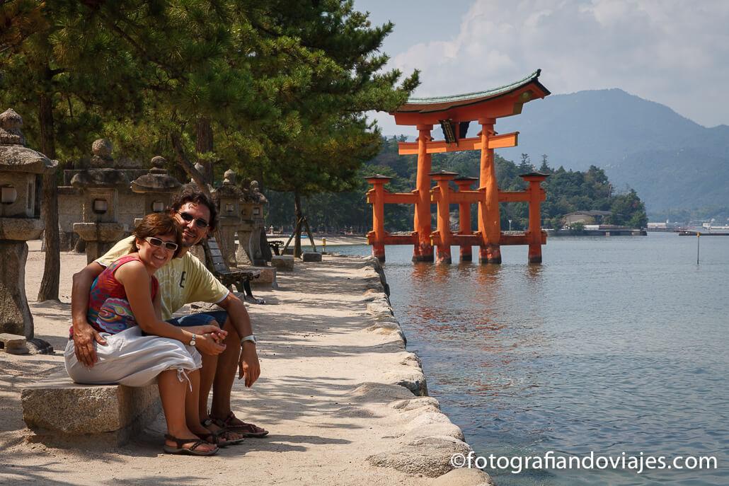 Torii del Santuario de Itsukushima en Miyajima