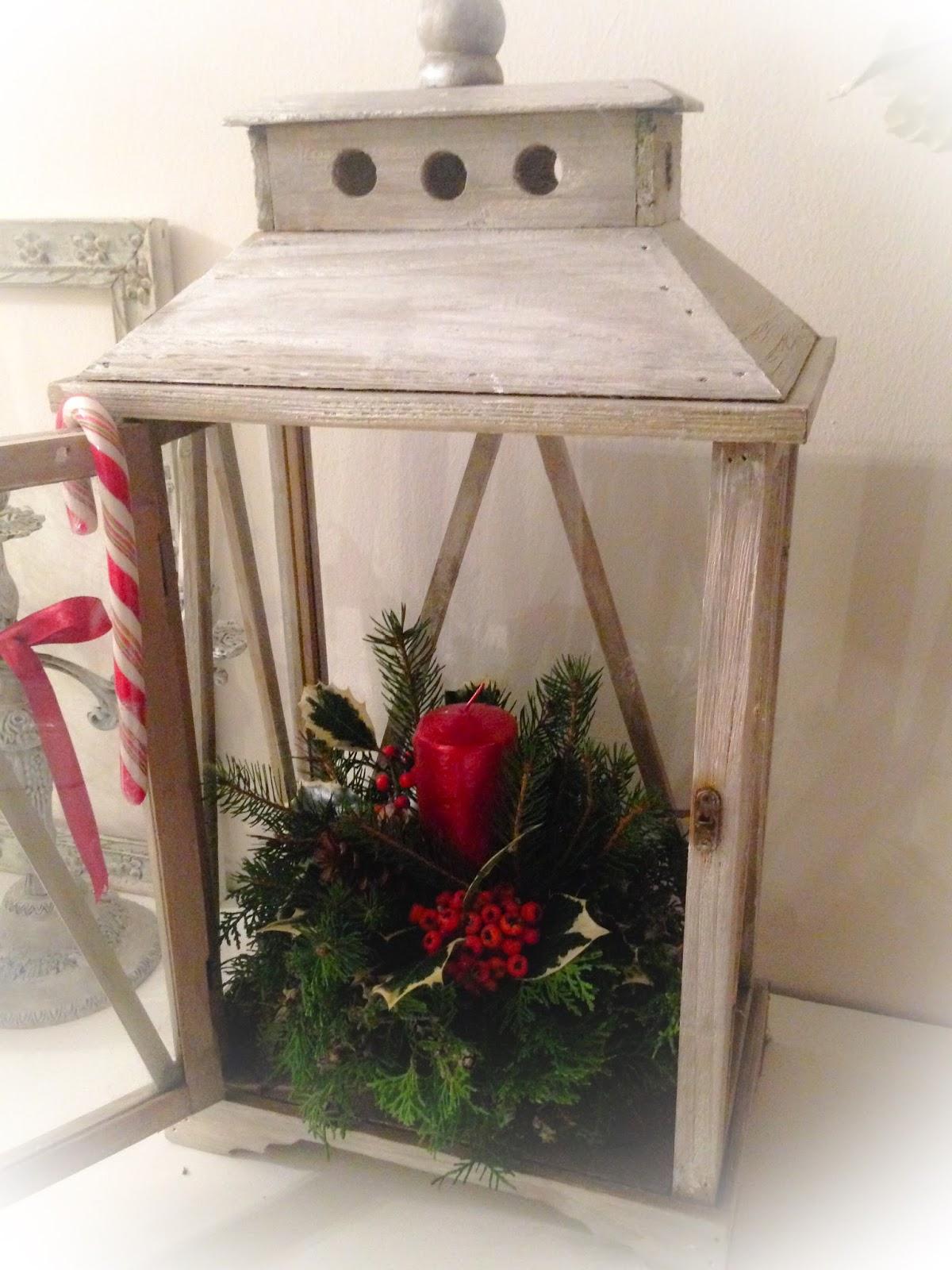 shabby christmas lantern