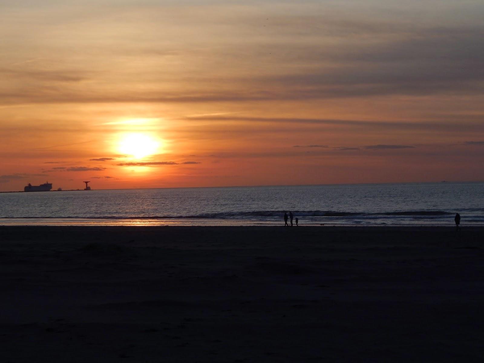 západ slunce v Holandsku