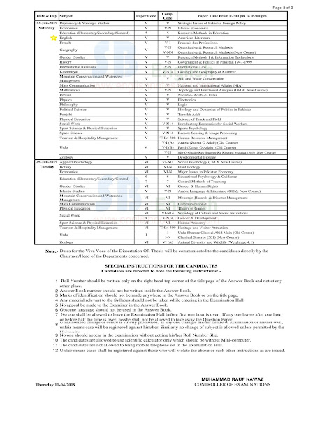 ma english punjab university anuual 2019 exams date sheet,punjab university date sheet 2019,ma english part.1 pu annual 2019 date sheet