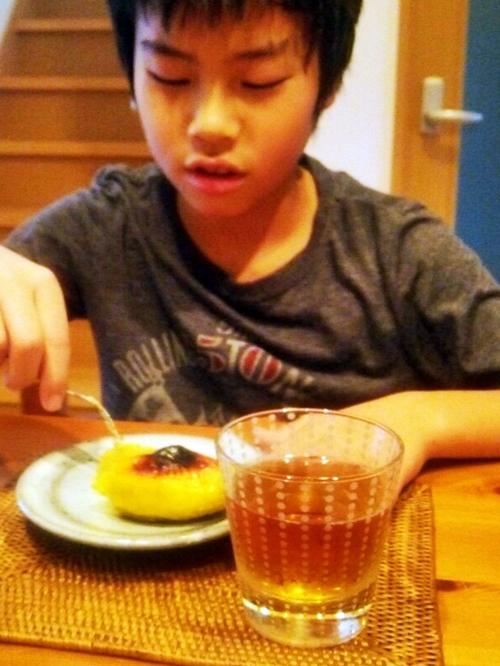 息子が掘ってきた無農薬のさつま芋でスイートポテトのおやつ