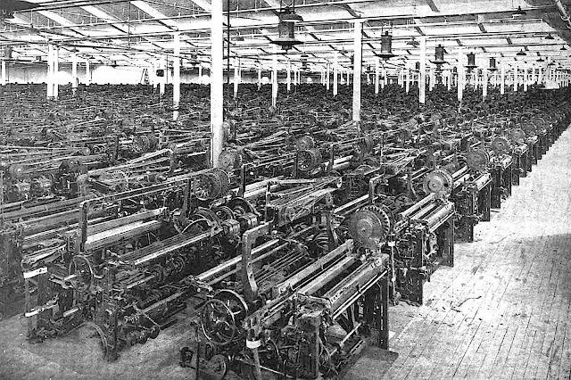 1922 factory floor machines photograph