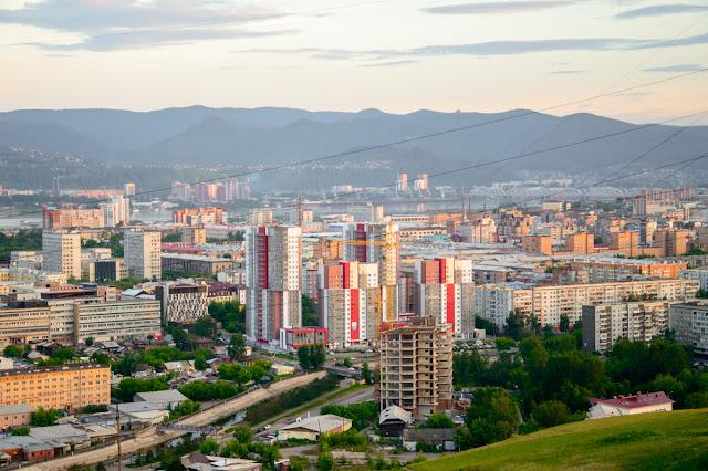 Красноярск вид со смотровой