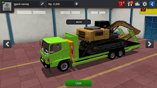 BUSSID MOD : Heavy truck with excavator MOD Download | bus simulator indonesia mod download