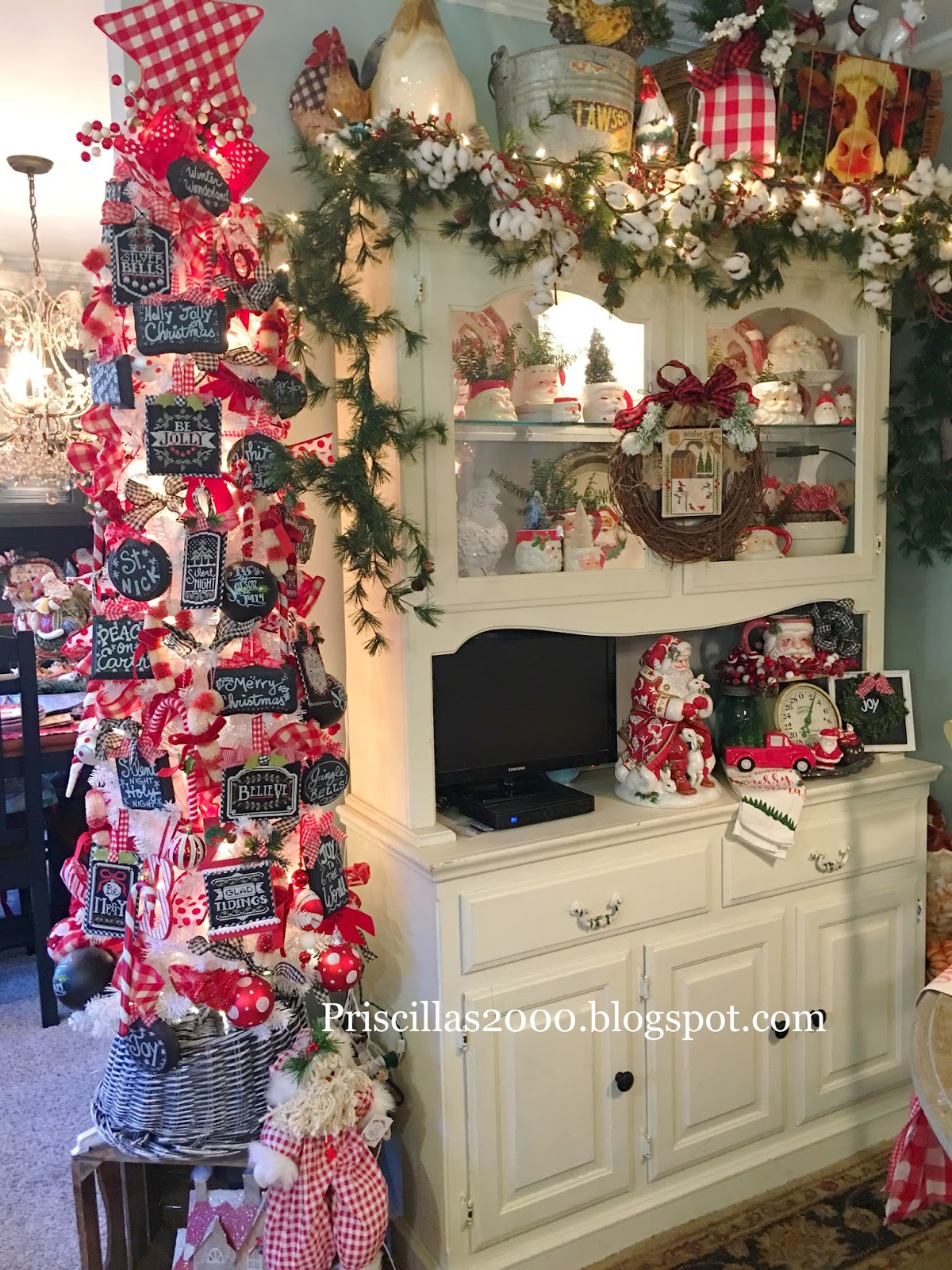 Outstanding Priscillas Christmas In The China Cabinet Complete Home Design Collection Barbaintelli Responsecom