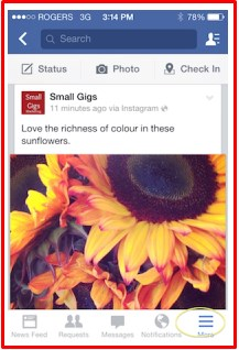 how to link instagram to facebook business page android