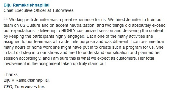 Testimonial for Jennifer Kumar, Authentic Journeys