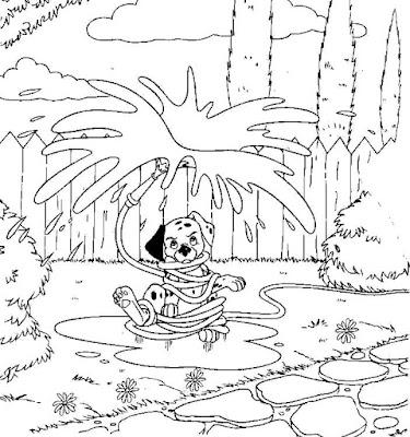 Imágenes para colorear, dibujos animados para pintar,niños
