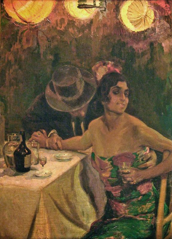 Tu eres mia, Francisco Pons Arnau, Pintor español, Pintor Valenciano, Pintura Valenciana, Impresionismo Valenciano, Pintor Pons Arnau, Retratos de Pons Arnau