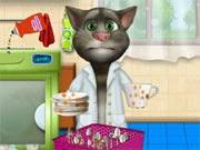العاب تنظيف القط توم المتكلم talking tom