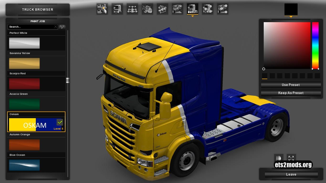 Scania RJL Oskam Skin