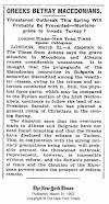 Griechen verraten Makedonier - NY Times 1902
