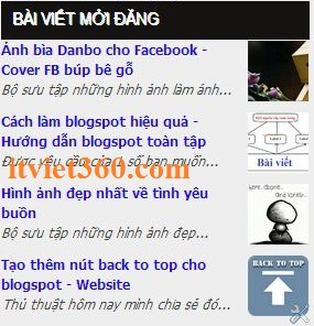 recent posts for blogspot