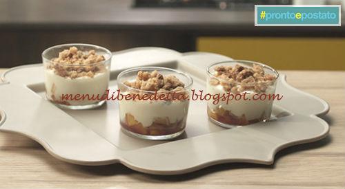 Pronto e postato - Dolce al cucchiaio con pesche e amaretti ricetta Benedetta Parodi