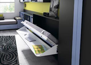 cama plegable que baja el escritorio