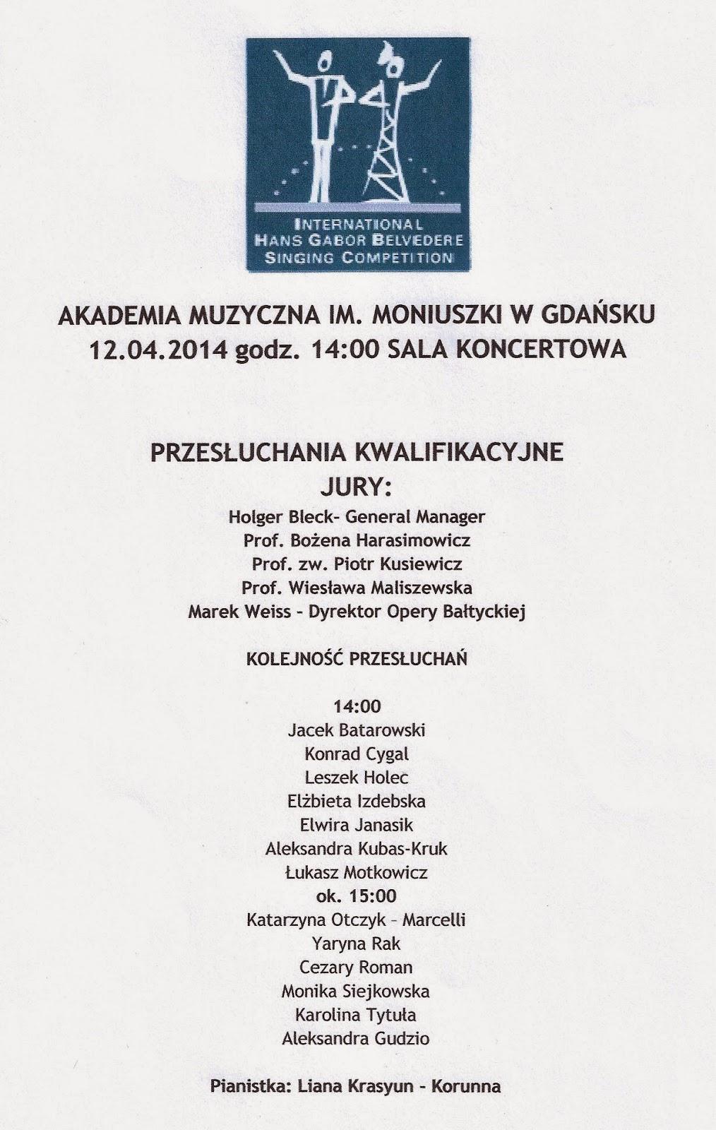 38th International Hans Gabor Belvedere Singing Competition