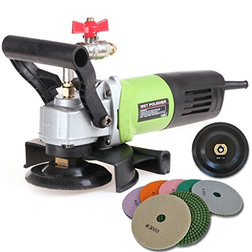 "5/"" Variable Speed Wet Polisher 125mm Polishing 28+1 Pad Concrete Stone Granite"