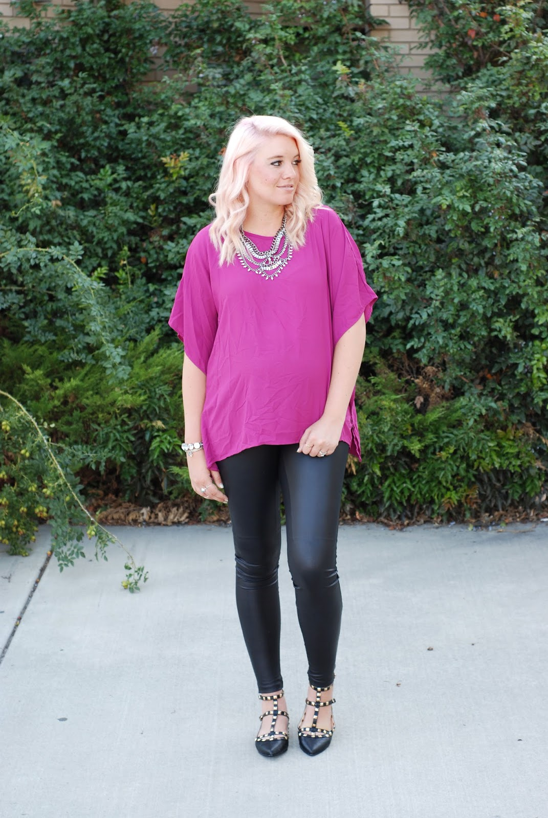 Heritwine Maternity, Leather Leggings, Studded Flats