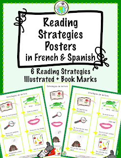 Reading Strategies Posters for French and Spanish