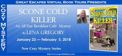 Great Escapes Virtual Book Tours, Lena Gregory, Scone Cold Killer, Bea's Book Nook