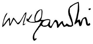 Η υπογραφή του Γκάντι