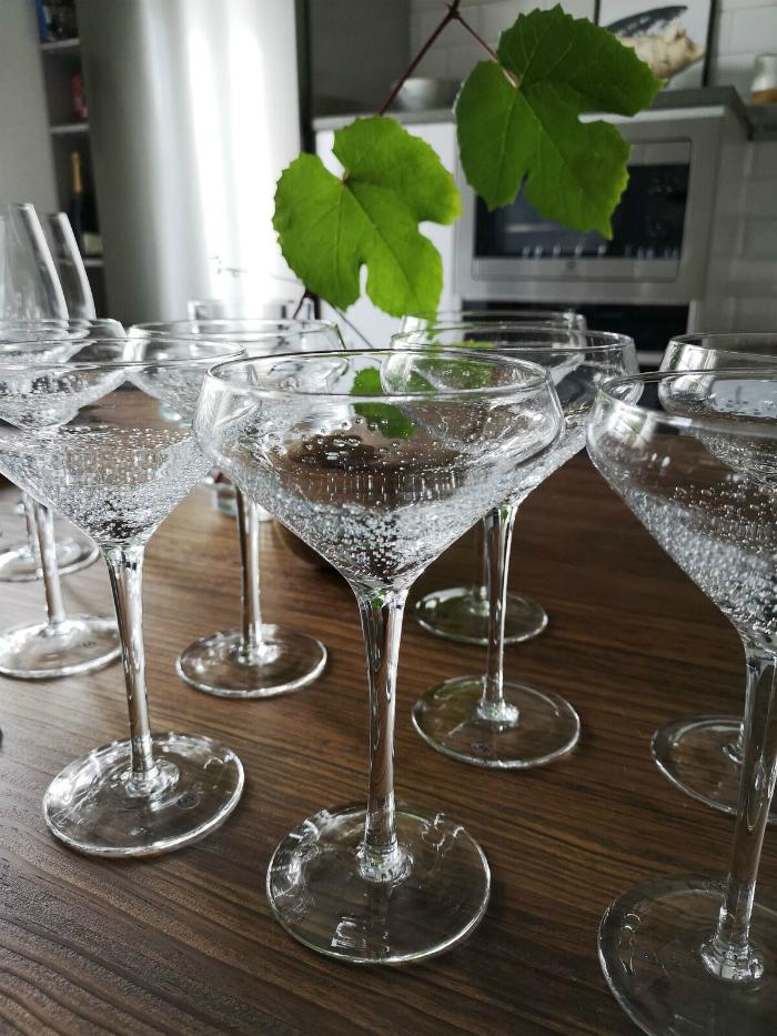 annelies design, webbutik, webbutiker, vinglas, bubbles, bubblor, i botten, champagneglas, dekoration, champagneglas, champagne, vin,