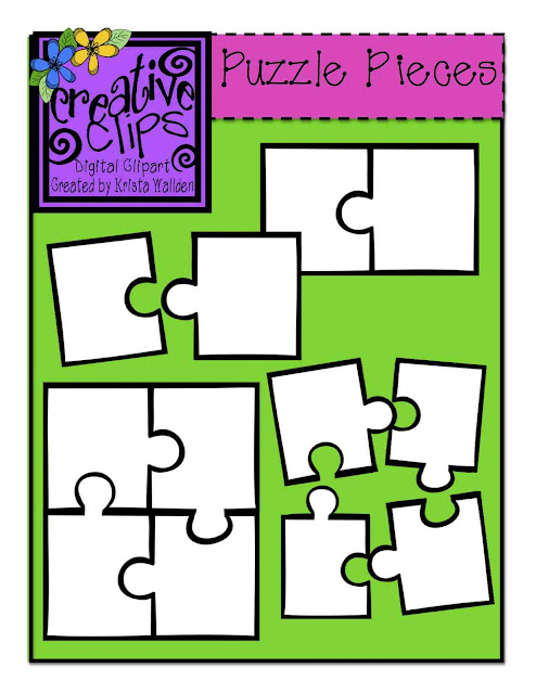 The Creative Chalkboard: {Free} Puzzle Piece Clipart and ...