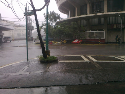 Typhoon Pedring - BPI sign fell