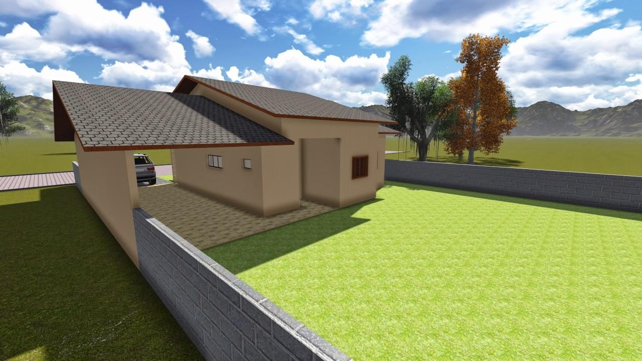 Plantas de casas com 3 quartos for Casa moderna de 50 m2