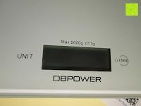 Touch: DBPOWER® Digitale Küchenwaage, Multifunktionsküche-Nahrungsmittelskala Messen, 11 £ / 5kg High Precision Berührungsbildschirm, Hartglas, Weiß