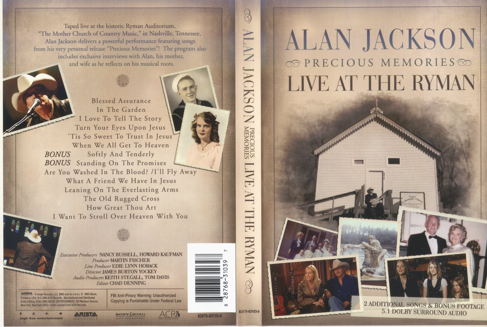 Dvdmania Alan Jackson Precious Memories Live At The Ryman