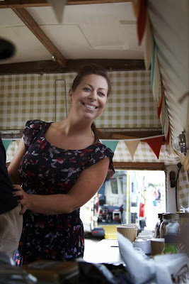 Jenn in the Little Coffee Camper, Essex
