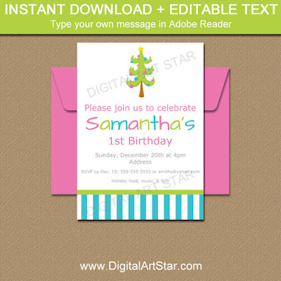 modern christmas invitations