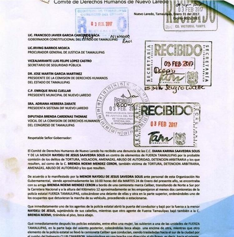 CNDH por encargo del CDN insiste en dejar sin Seguridad a Nuevo Laredo Tamaulipas