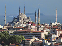 The Blue Mosque, Istanbul, from the Galata Tower.