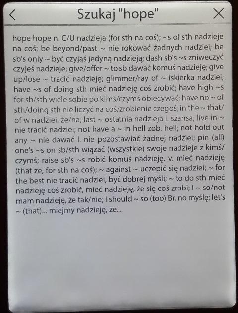Cybook Odyssey Frontlight HD - słownik