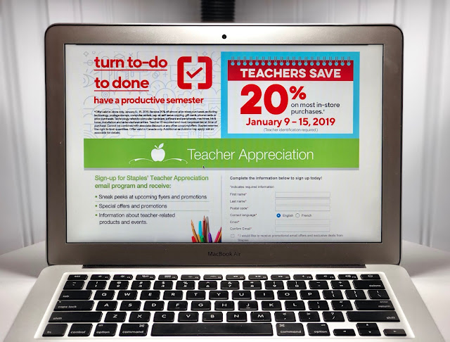 Staples Teacher Appreciation Days: Save 20%!