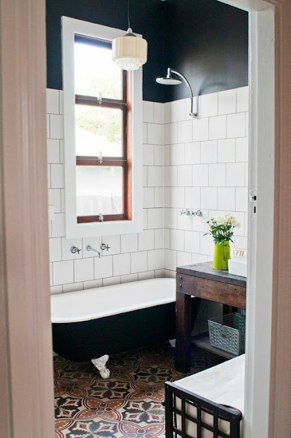 Gorgeous Black Wall Bathrooms to Inspire Brooklyn Limestone