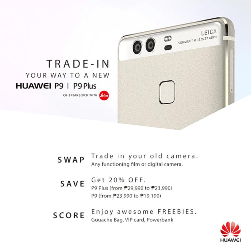 Huawei P9 series camera trade in promo
