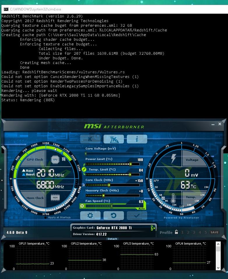 Asus 2080 Ti Turbo Blower Benchmark | Redshift Render Blog