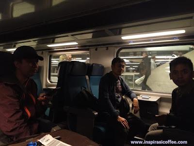 Naik kereta api di Swiss