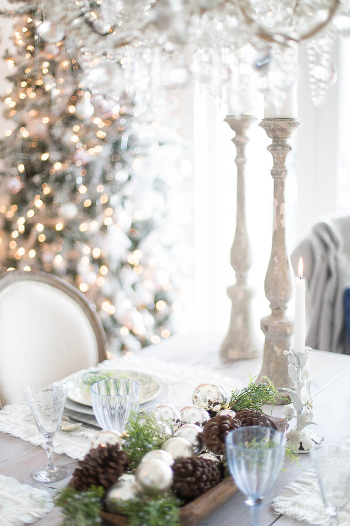 christmas rustic tablescape french country style