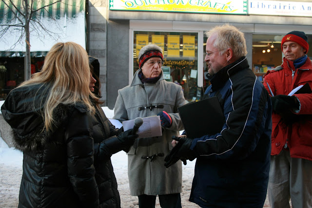 CBC radio interview outside their location on Sparks Street, Ottawa